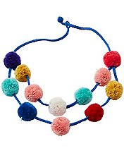 Kids Double Pom Necklace by Hanna Andersson
