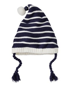 Kids Stripey Fleece Lined Gnome Cap by Hanna Andersson