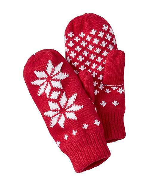 Kids Fleece Lined Sweater Mittens by Hanna Andersson