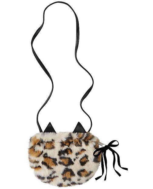 Girls Kit Cat Furry Purse by Hanna Andersson