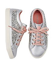 Girls Elvira Glitter Sneakers by Hanna Andersson