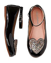 Girls Marika Ankle Strap Flats by Hanna Andersson