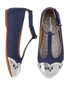 Anita T-Strap Shoes by Hanna Andersson