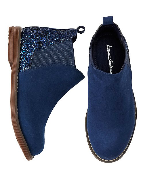 Girls Brogan Glitter Ankle Boots by Hanna Andersson