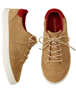 Edvard Suede Oxford Sneakers by Hanna Andersson