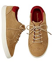 Boys Edvard Suede Oxford Sneakers by Hanna Andersson