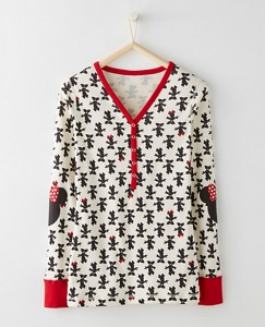 Women's Disney Minnie Mouse Henley In Organic Cotton by Hanna Andersson