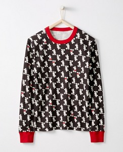 Adult Disney Mickey Mouse Long John Pajama Top In Organic Cotton by Hanna Andersson