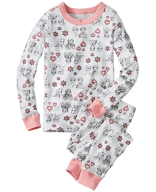 Kids Disney Frozen Long John Pajamas In Organic Cotton by Hanna Andersson