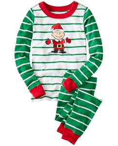 Kids Peanuts Long John Pajamas In Organic Cotton by Hanna Andersson