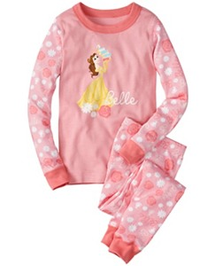Kids Disney Princess Long John Pajamas In Organic Cotton by Hanna Andersson