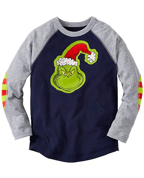 Dr. Seuss Grinch Appliqué Tee by Hanna Andersson