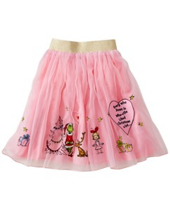 Girls Dr. Seuss Grinch Embroidered Skirt by Hanna Andersson