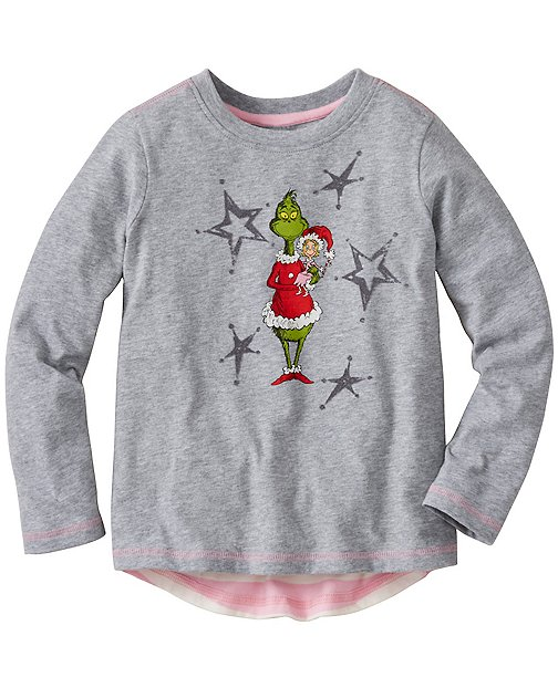 Girls Dr. Seuss Grinch Swing Tee by Hanna Andersson