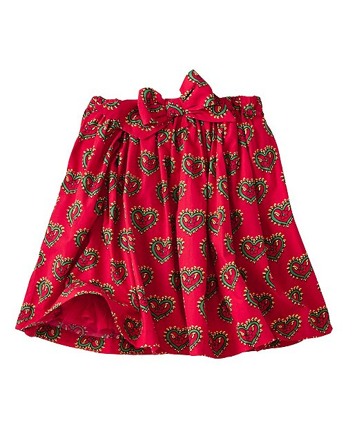 Girls Swedish Hearts Skirt by Hanna Andersson