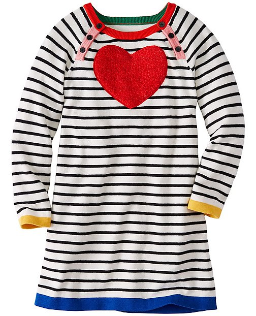 Girls Soft Heart Sweater Dress by Hanna Andersson