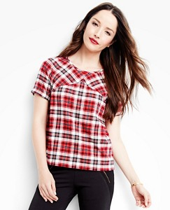 Women's Up North Tee In Supersoft Flannel by Hanna Andersson