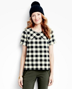 Women's Bear Hugs Flannel Tee by Hanna Andersson