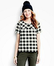 Women's Buffalo Check Shirt In Supersoft Flannel by Hanna Andersson