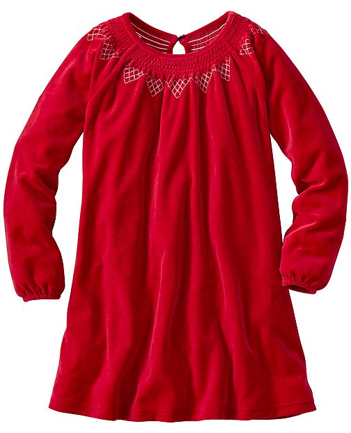 Girls Swedish Smocking Velour Dress by Hanna Andersson