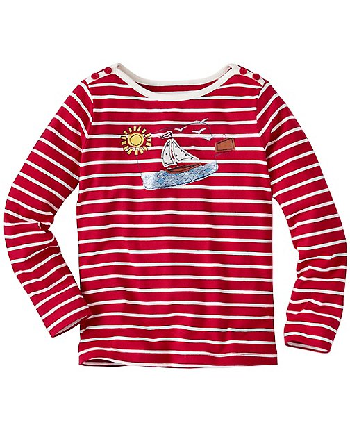 Girls Mariner Appliqué Tee by Hanna Andersson