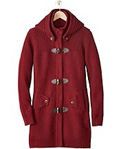 Women's Heritage Cotton & Merino Sweater Coat by Hanna Andersson