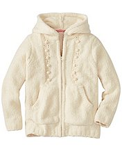 Girls Fluffy Cable Sweater Hoodie by Hanna Andersson