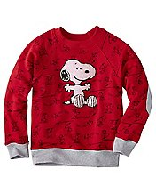 Kids Snoopy Be Mine Sweatshirt In 100% Cotton by Hanna Andersson