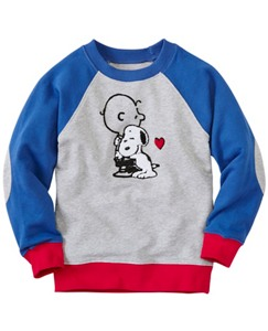 Boys Snoopy Be Mine Sweatshirt In 100% Cotton by Hanna Andersson