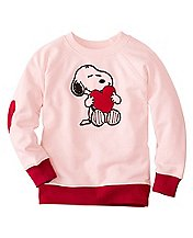 Girls Snoopy Be Mine Sweatshirt In 100% Cotton by Hanna Andersson