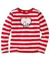 Girls Snoopy Be Mine Tee In Supersoft Jersey by Hanna Andersson