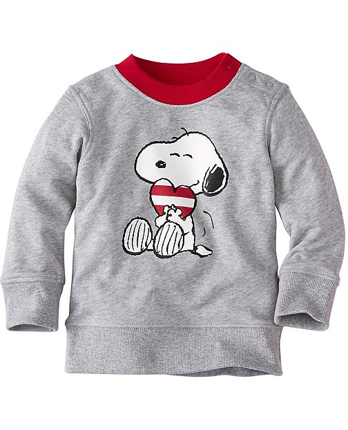 Baby Snoopy Be Mine Sweatshirt In 100% Cotton by Hanna Andersson