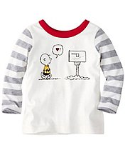 Toddler Charlie Brown Be Mine Tee In Supersoft Jersey by Hanna Andersson