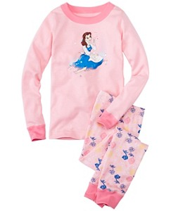 Kids Disney Beauty & The Beast Long John Pajamas In Organic Cotton by Hanna Andersson