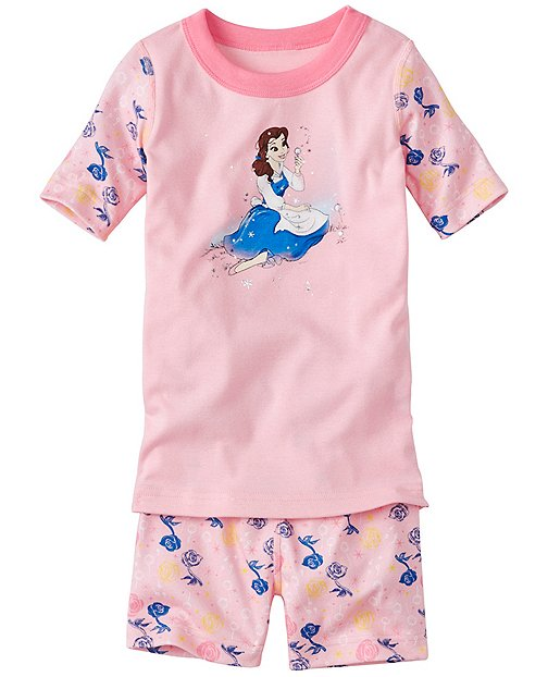 Kids Disney Beauty & The Beast Short John Pajamas In Organic Cotton by Hanna Andersson