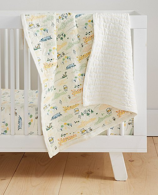 Disney Baby Winnie The Pooh Quilted Blanket In Organic Cotton by Hanna Andersson