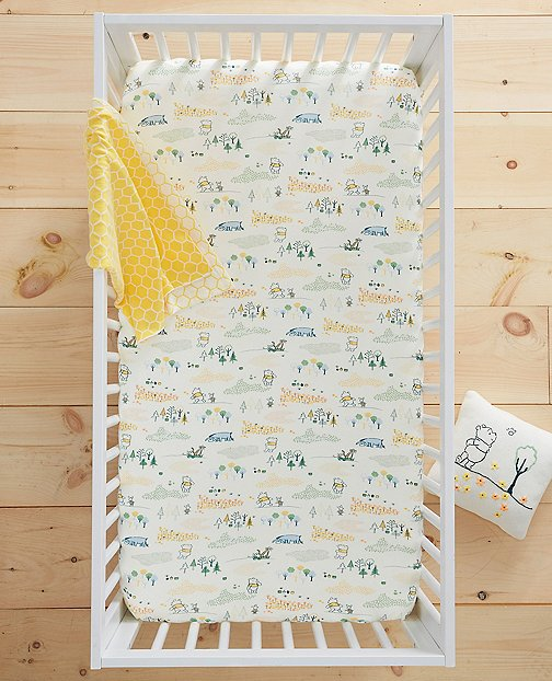 Disney Baby Winnie The Pooh Knit Crib Sheet In Organic Cotton by Hanna Andersson