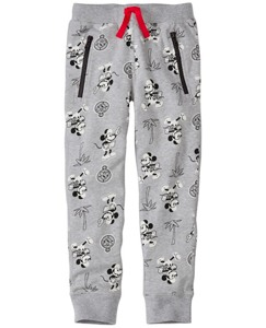 Boys Disney Mickey Mouse Slim Sweats In 100% Cotton by Hanna Andersson