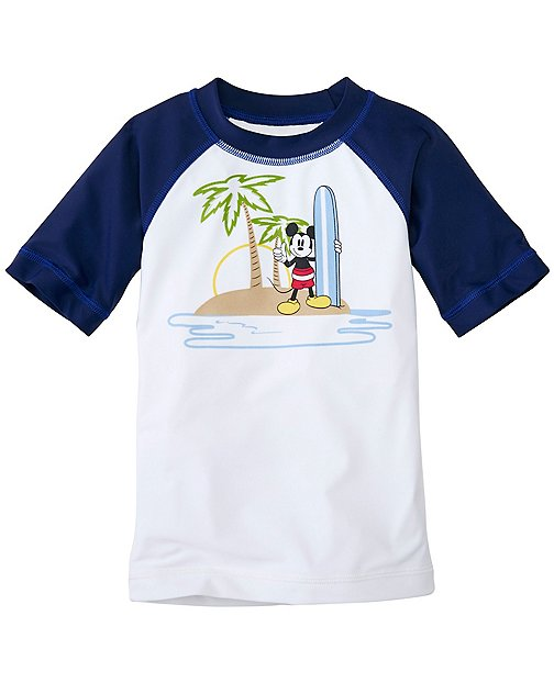 Boys Disney Mickey Mouse Sun-Ready Rash Guard by Hanna Andersson