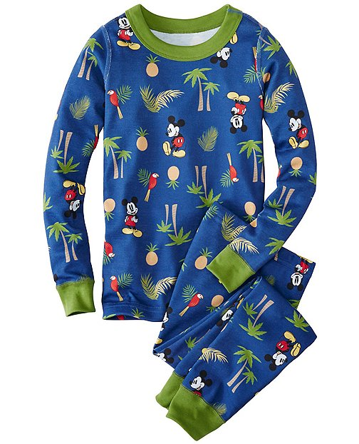 Kids Disney Mickey Mouse Long John Pajamas In Organic Cotton by Hanna Andersson