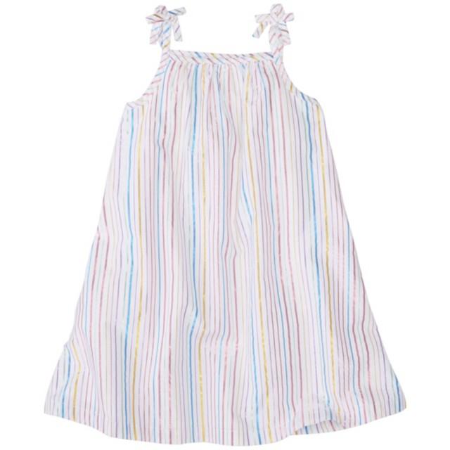 Girls Shimmer Stripe Sundress by Hanna Andersson