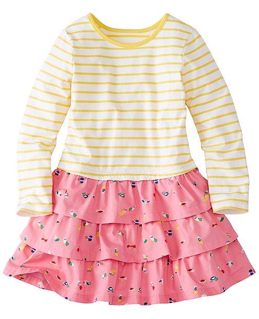 Girls Stripes Love Ruffles Dress by Hanna Andersson