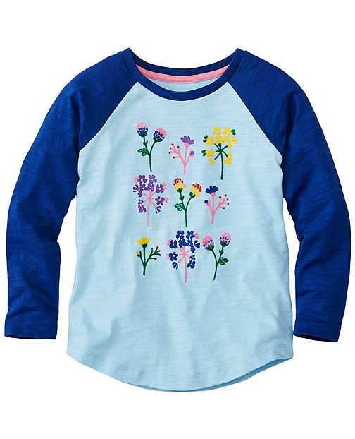 Girls Flocked Art Baseball Tee by Hanna Andersson