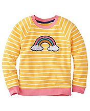 Girls All Play Sweatshirt In French Terry by Hanna Andersson