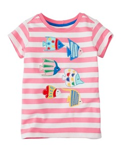 Girls Get Appy Appliqué Tee In Supersoft Jersey by Hanna Andersson