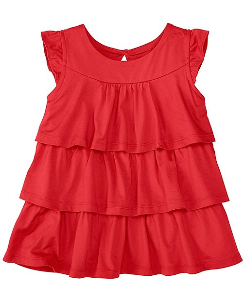 Girls Ruffle Ruffle Top by Hanna Andersson