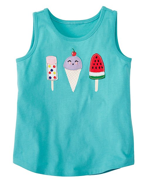 Girls Favorite Things Tank In Supersoft Jersey by Hanna Andersson