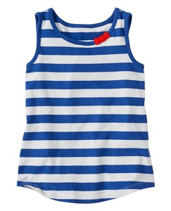 Summer Ruffle Stripes Tank by Hanna Andersson