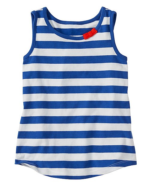 Girls Stripey Tank In Supersoft Jersey by Hanna Andersson