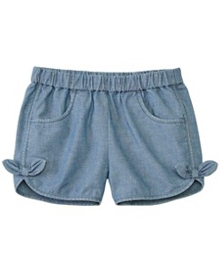Girls Chambray Pocket Shorts by Hanna Andersson